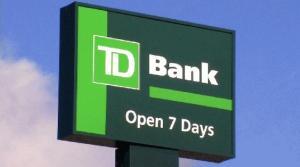 td bank sign